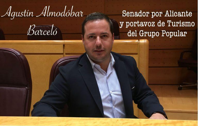 Agustín Almodóbar, senador por Alicante y portavoz de Turismo en el Grupo Popular