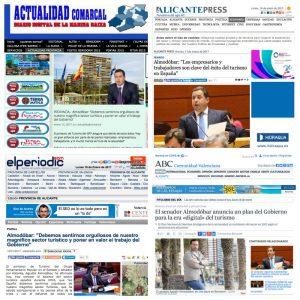 El senador y politico de Benidorm Agustín Almodóbar, en la prensa tras las declaraciones sobre turismo