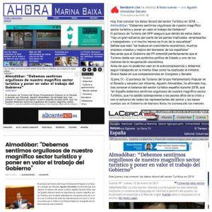 El senador y politico de Benidorm Agustín Almodóbar, en la prensa