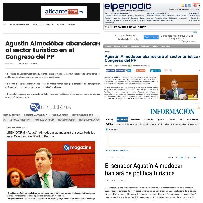 Congreso de PP Agustín Almodóbar enmiendas turismo